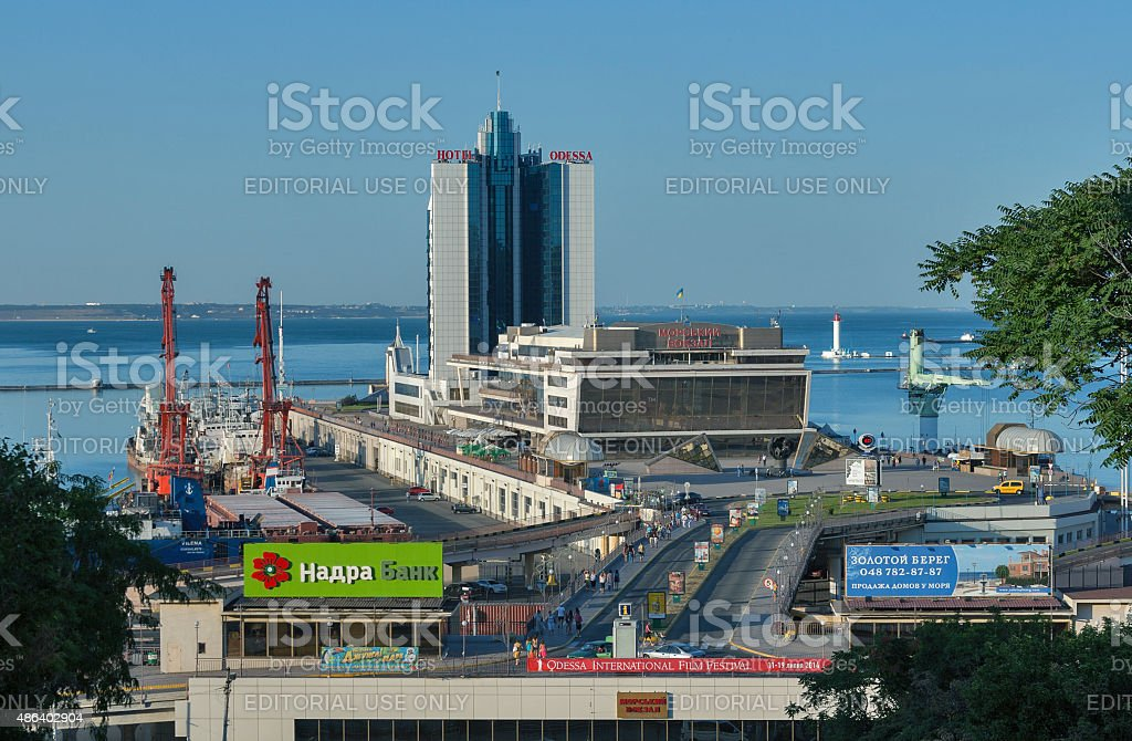 Marine Passenger Station and Hotel Odessa stock photo
