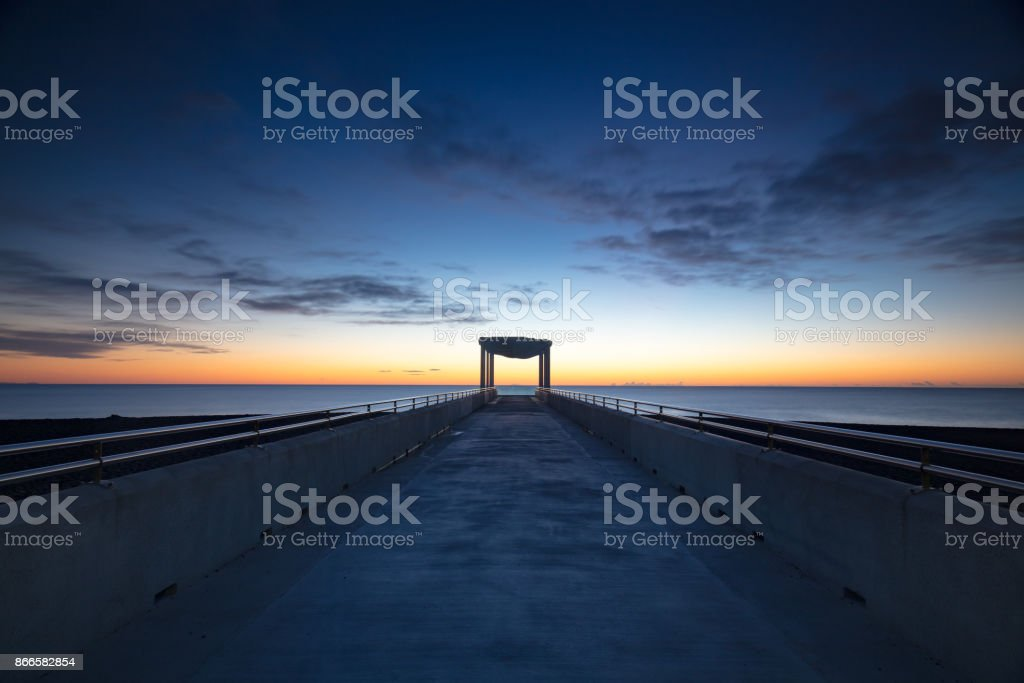 Marine Pde Viewing Platform Napier stock photo