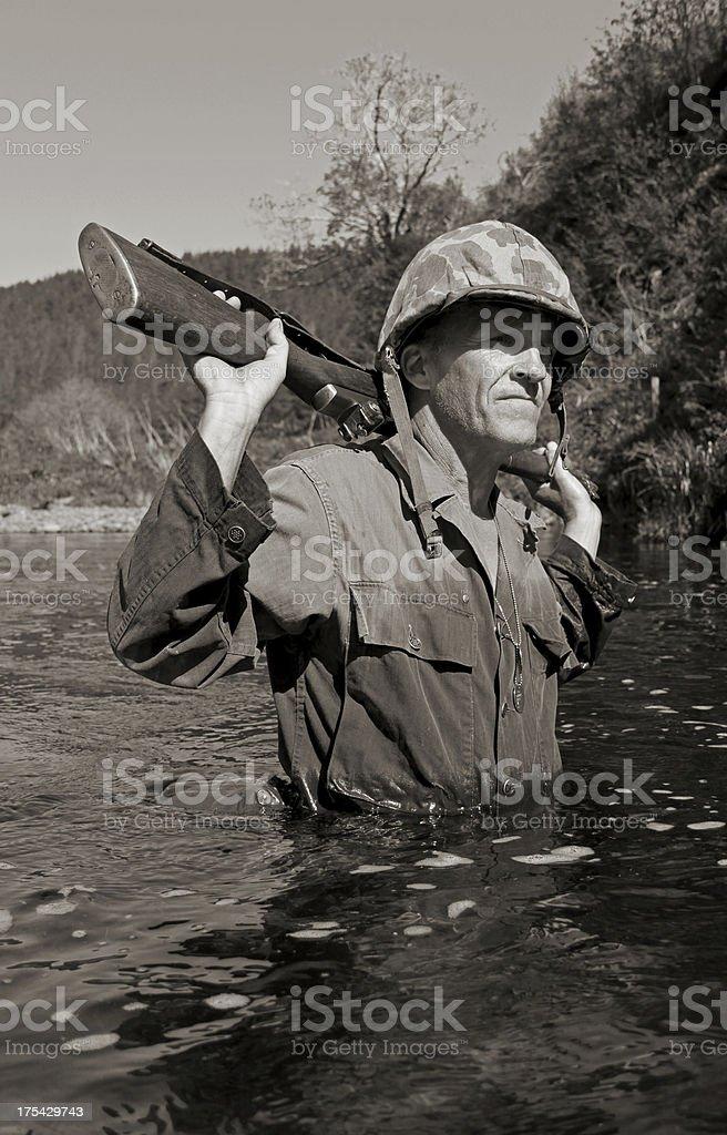WW2 Marine . stock photo