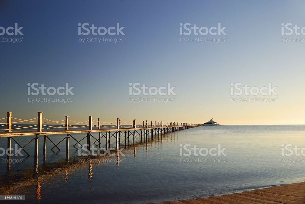 marine pier royalty-free stock photo