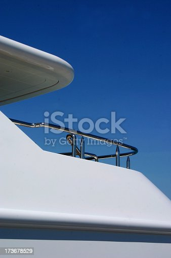luxury crusing yacht with blue-sky backgroundsee also: