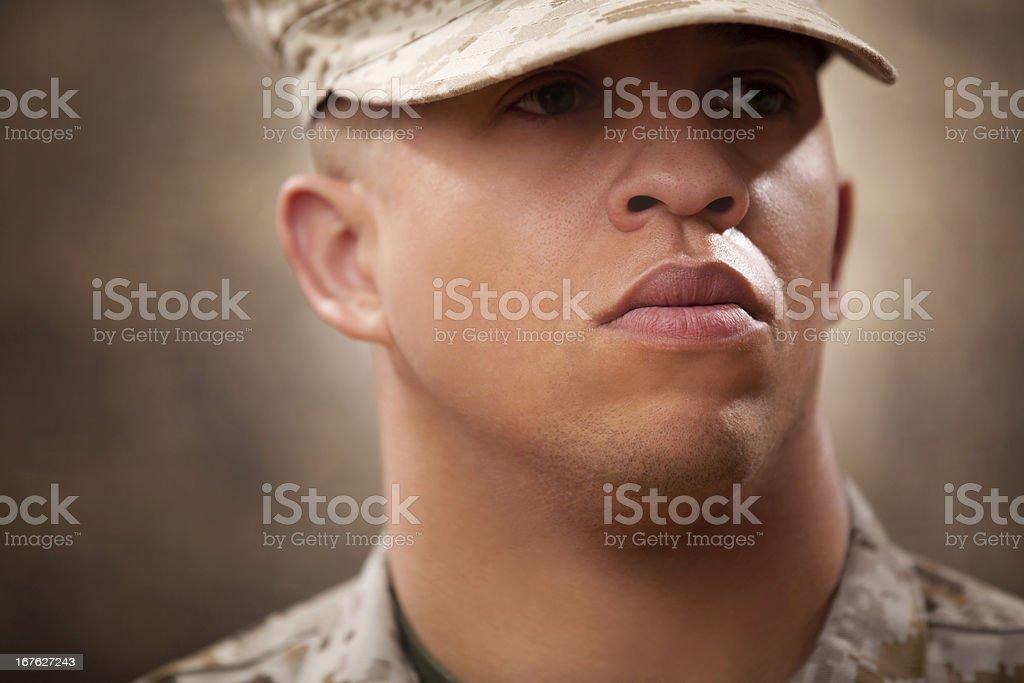 US Marine Portrait stock photo