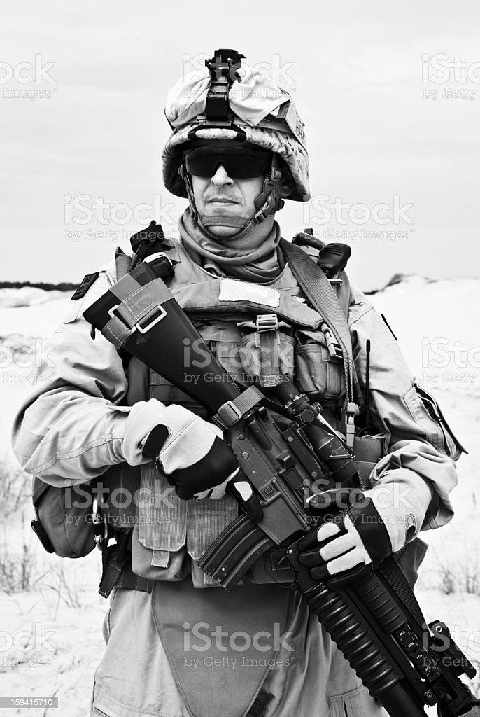 Marine pride royalty-free stock photo
