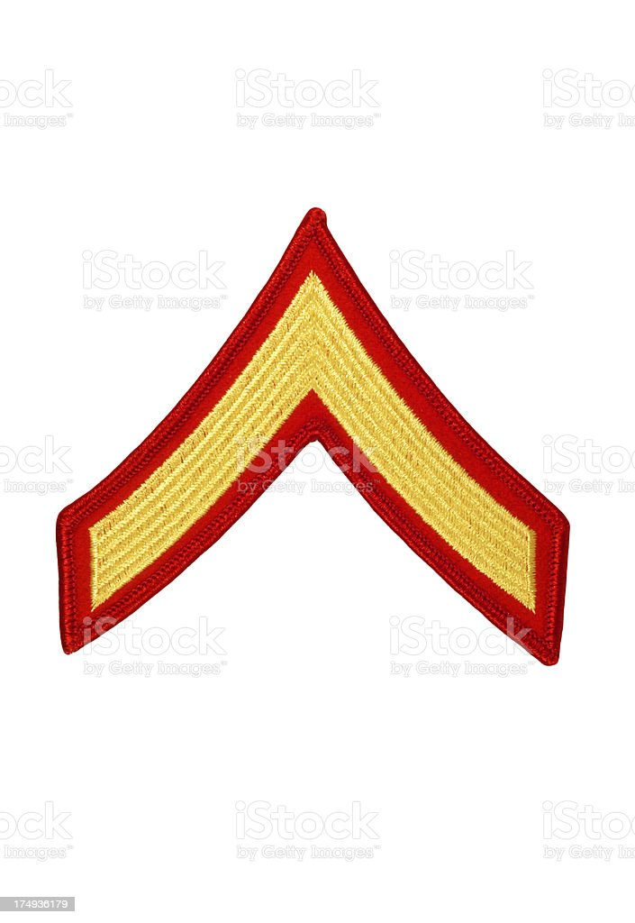 US Marine Private Rank Patch royalty-free stock photo