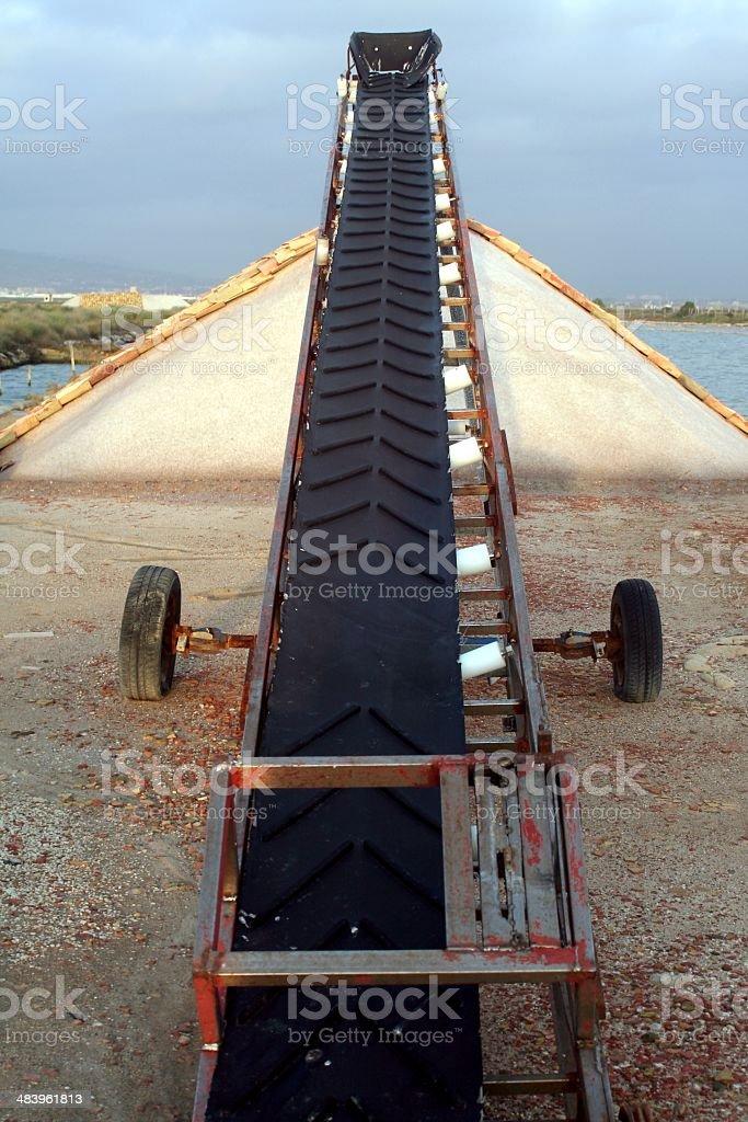 Marine salt mine royalty-free stock photo