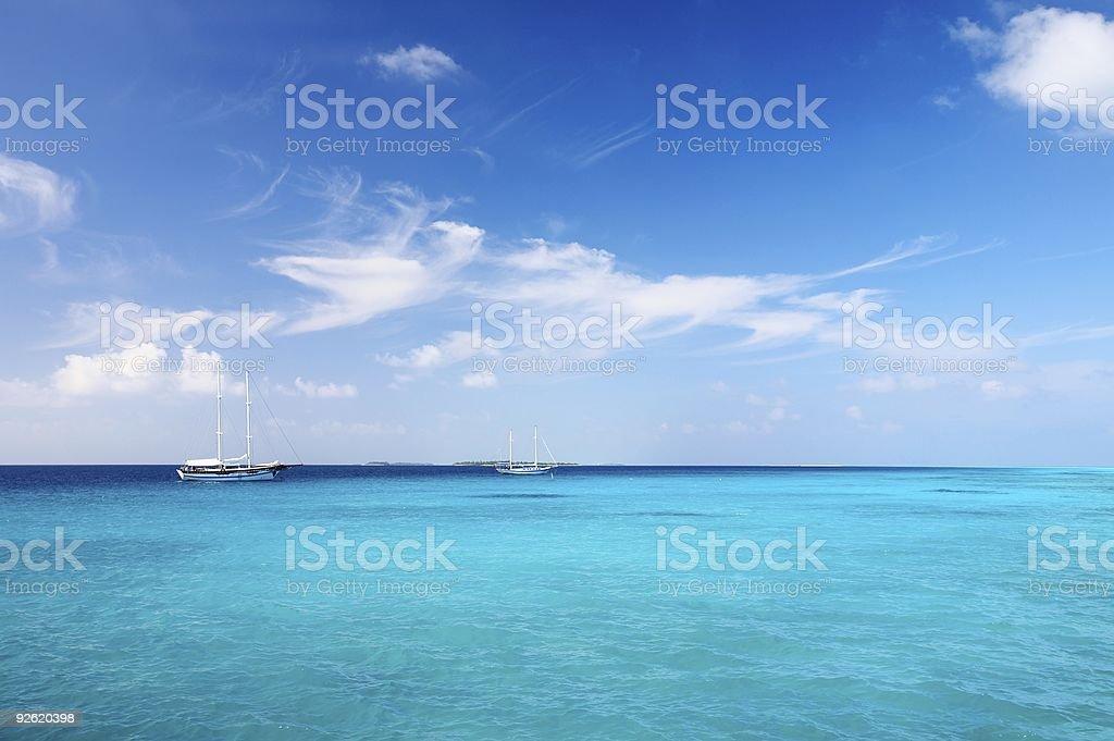 Marine seascape royalty-free stock photo