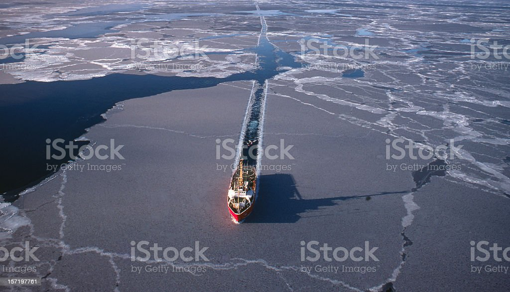 Marine Seismic in the Arctic royalty-free stock photo