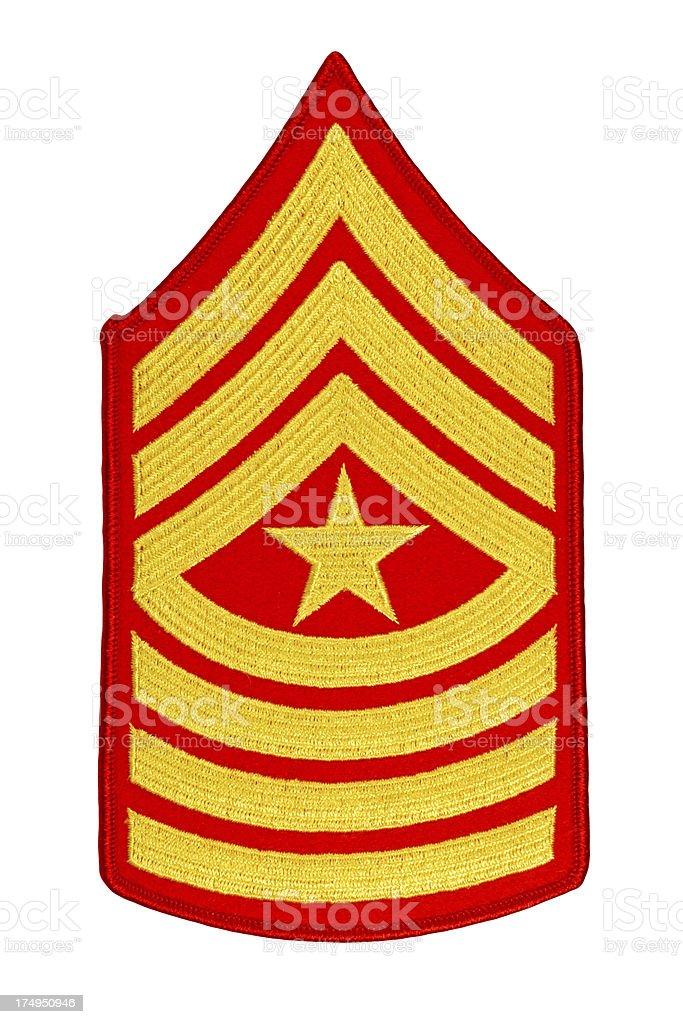 US Marine Sergeant Major Rank Insignia royalty-free stock photo