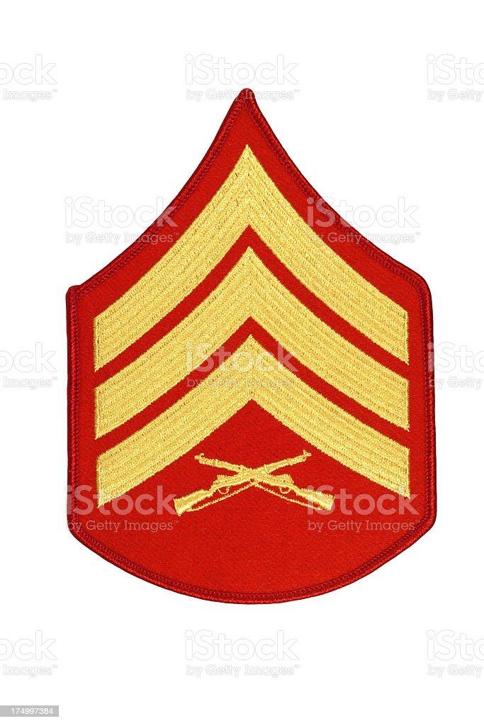 US Marine Sergeant Rank Patch royalty-free stock photo