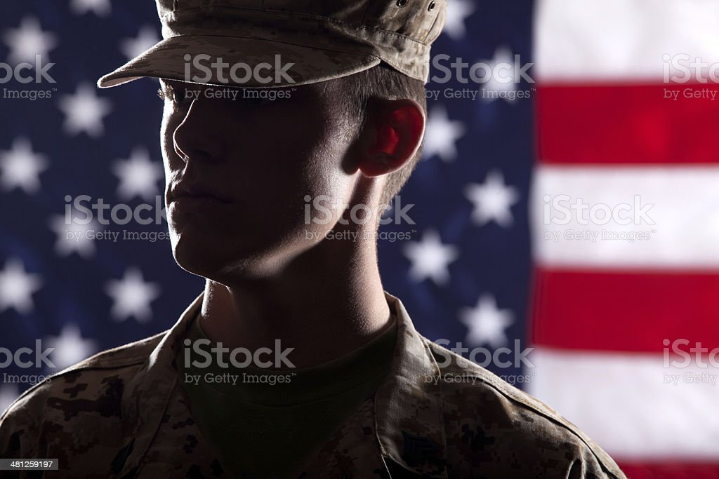 U S Marine Soldier stock photo