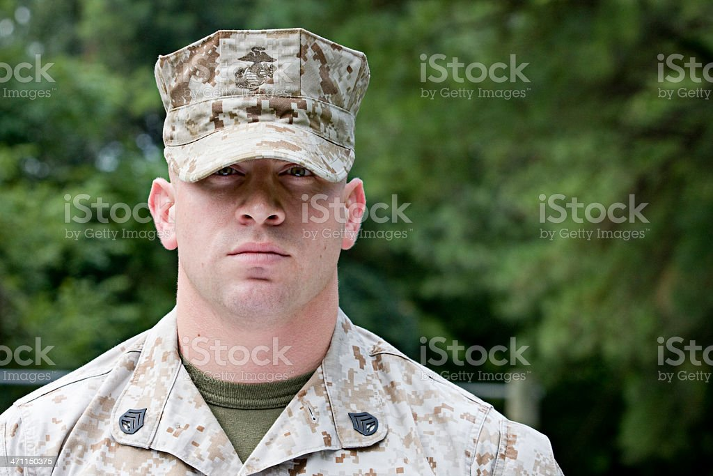 Marine Staff Sergeant stock photo
