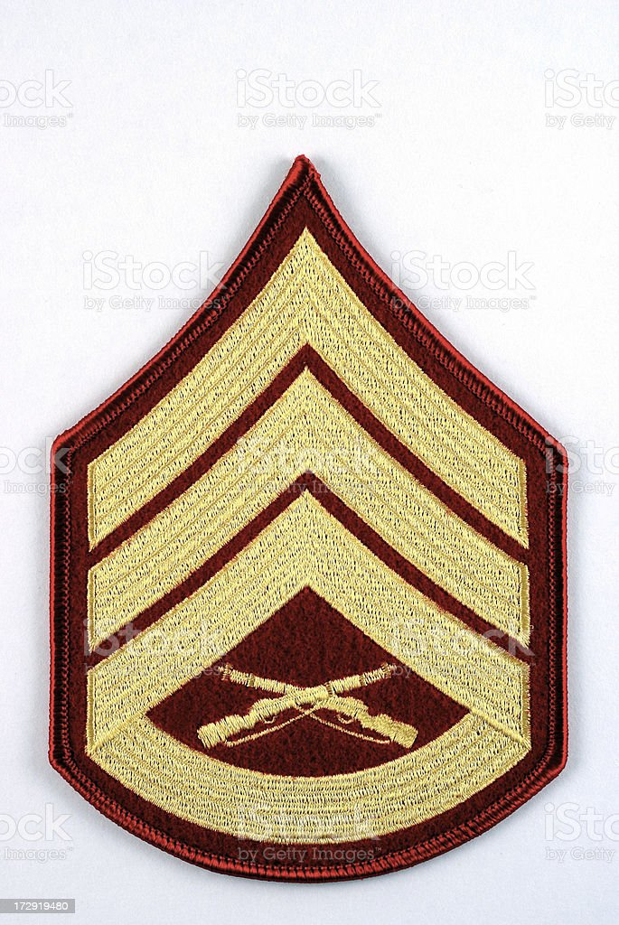 Marine Staff Sergeant Rank Insignia royalty-free stock photo