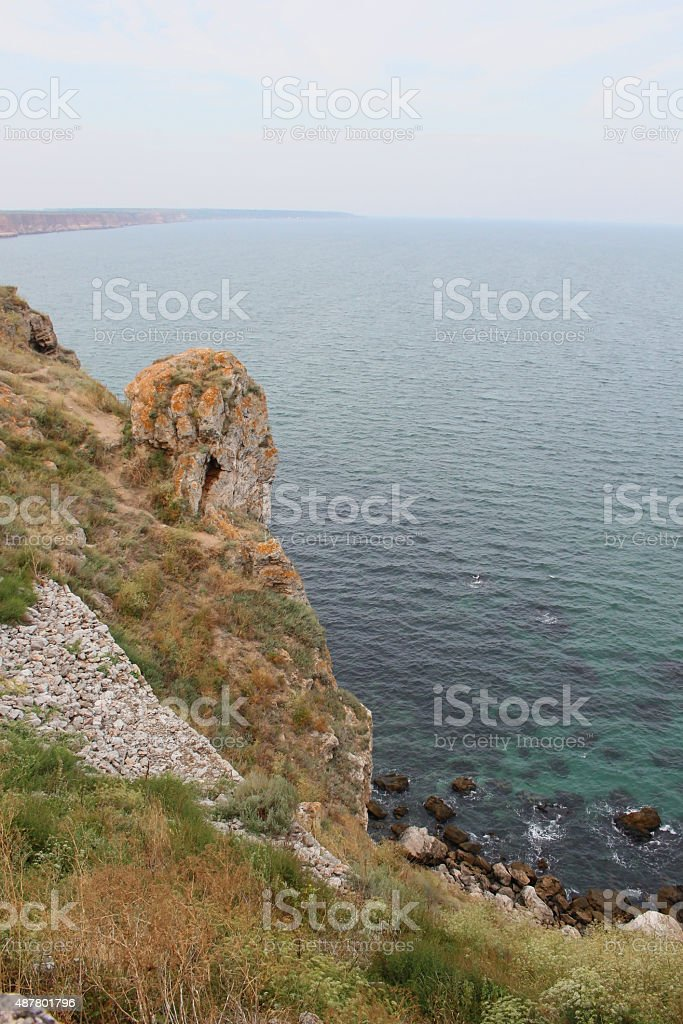 Marine view from Kaliakra cape stock photo