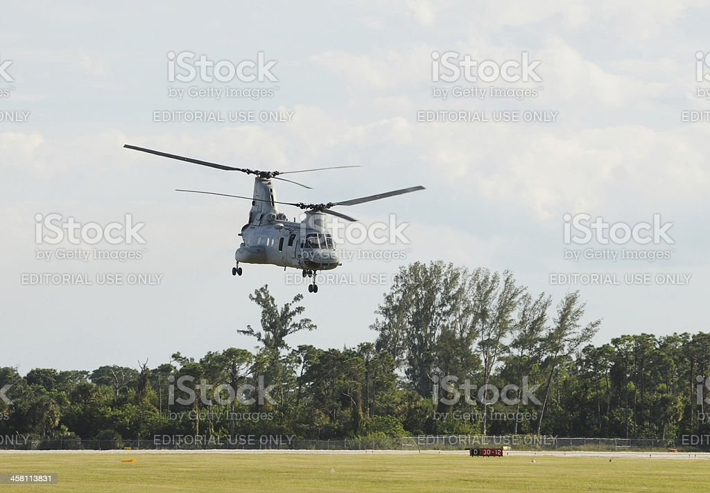 US marined transport helicopter royalty-free stock photo