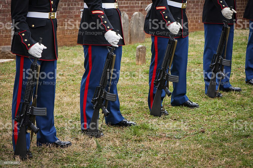 Marines and Rifles royalty-free stock photo