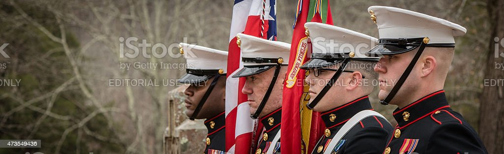 Marines Honor Guard at Montpellier stock photo