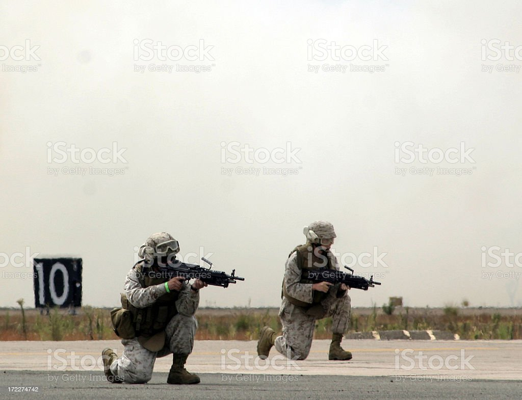 marines in action royalty-free stock photo