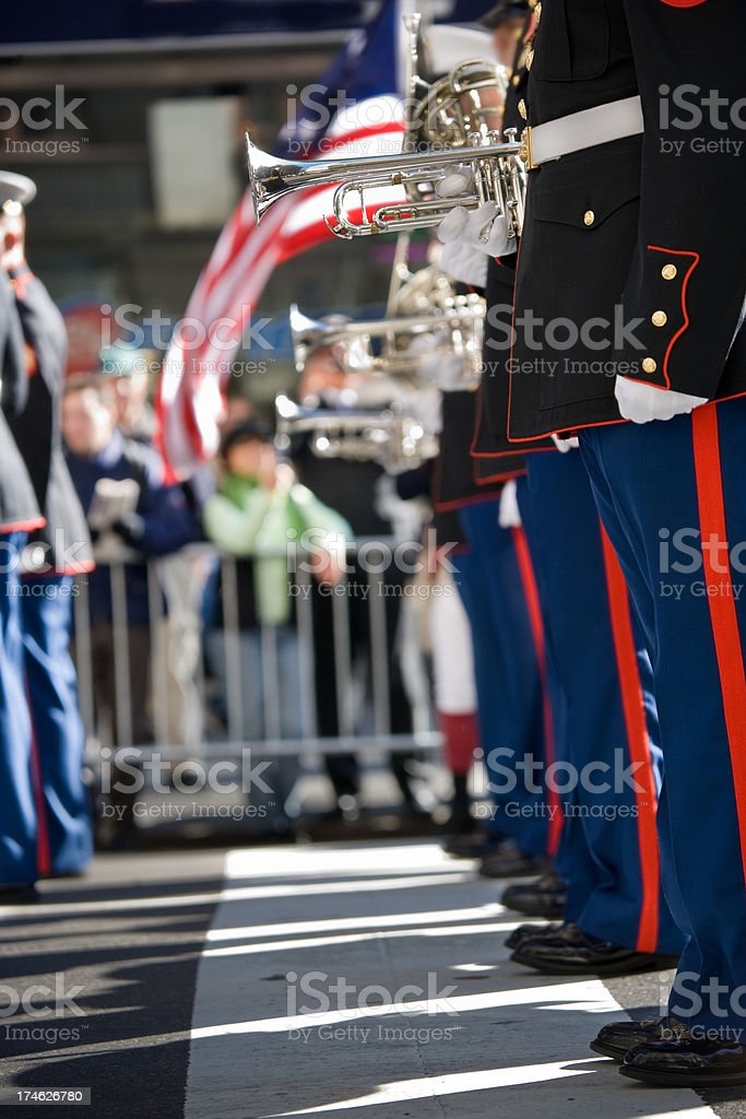 US Marines Marching band stock photo