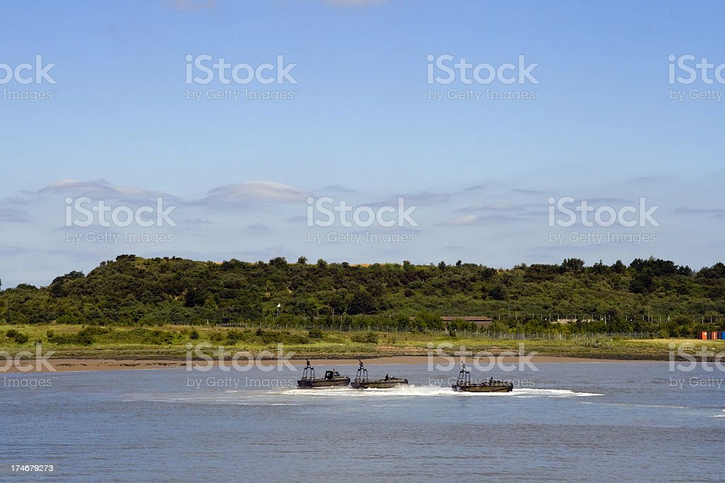 Marines on the River Medway stock photo