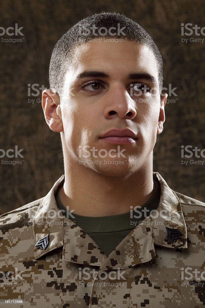 US Marines Portrait royalty-free stock photo