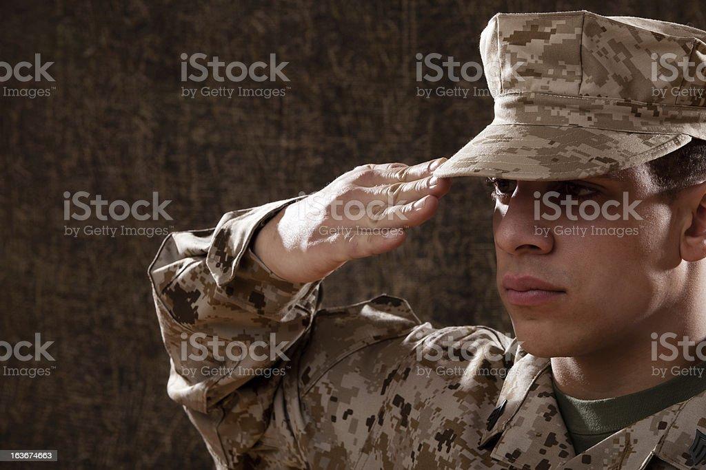 US Marines Portrait stock photo