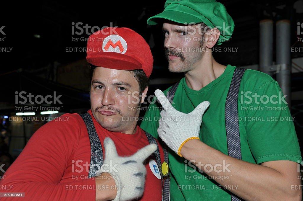 Mario Bros Halloween Costume stock photo