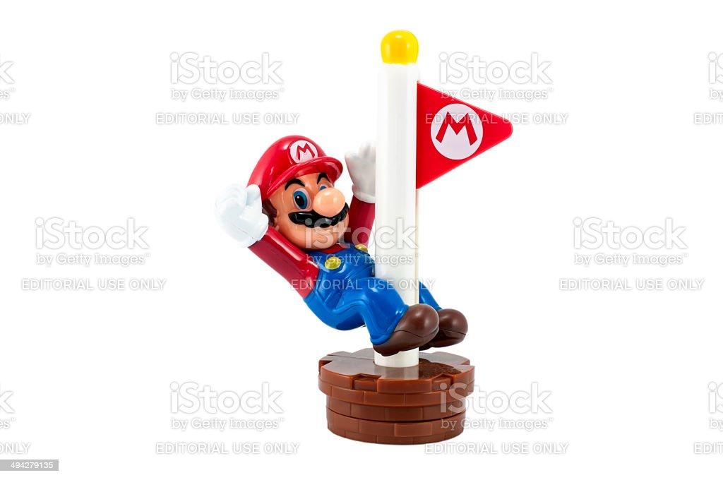 Mario with Goal Pole stock photo