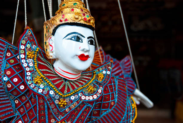 Marionette Art and Craft, Myanmar stock photo