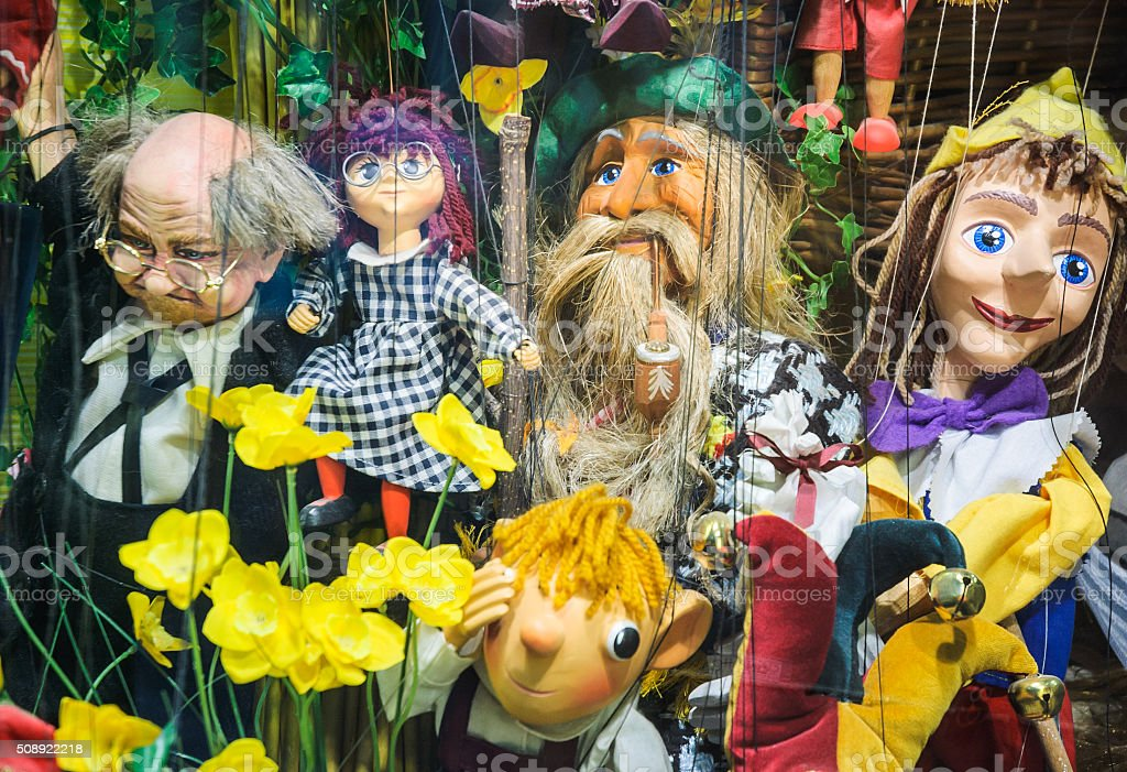 Marionette Characters stock photo