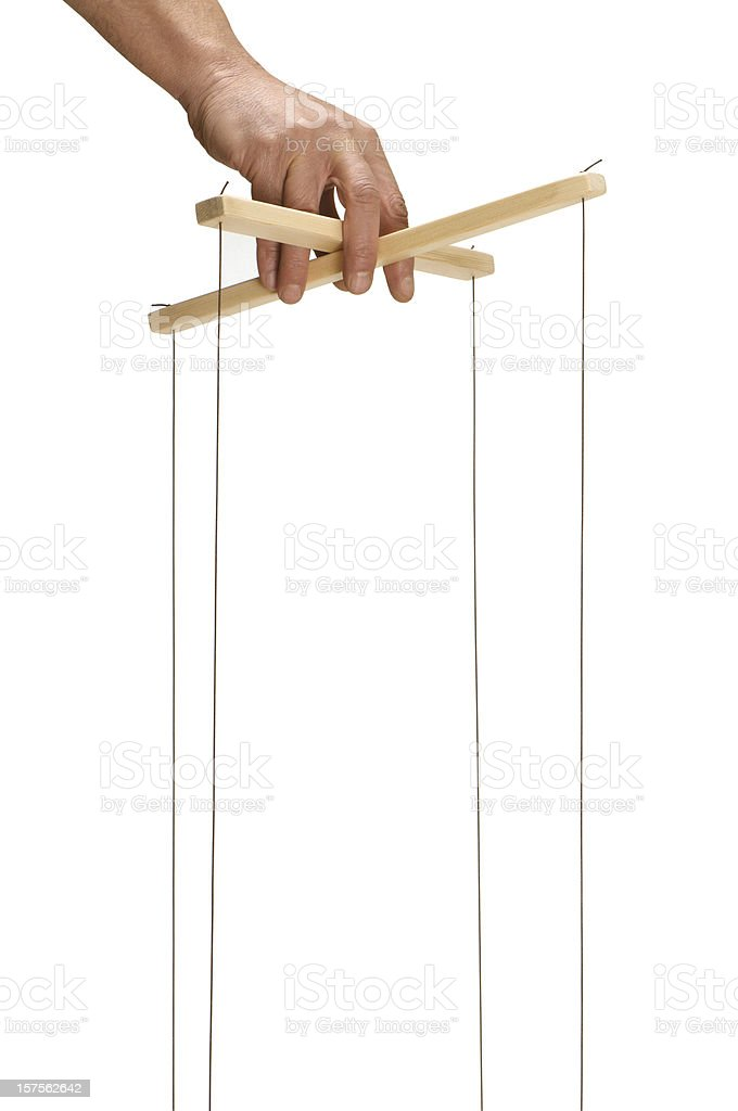 Marionette control bar royalty-free stock photo