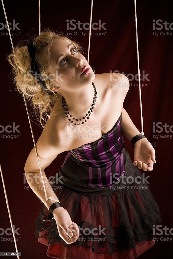 Marionette Looking Up royalty-free stock photo