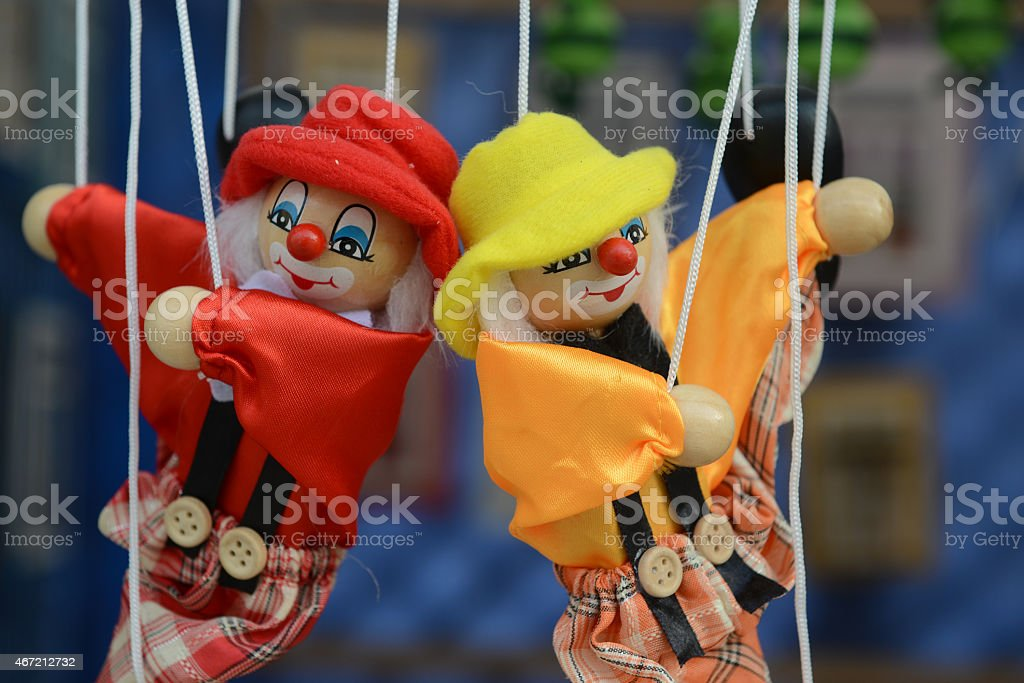 Marionette - puppet stock photo