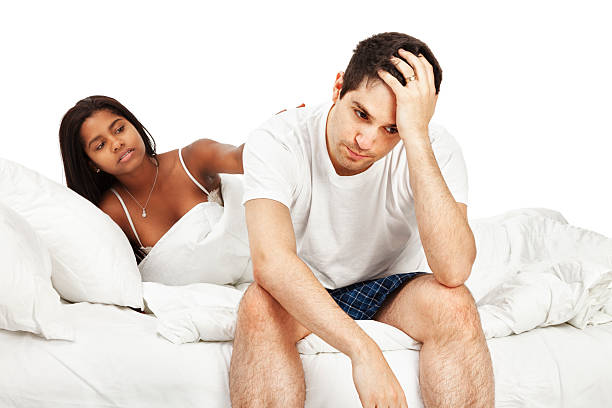 Marital Problems in the Bedroom stock photo
