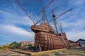 Singapore, Singapore - January 17, 2016: Maritime Museum in Malacca City, Malaysia