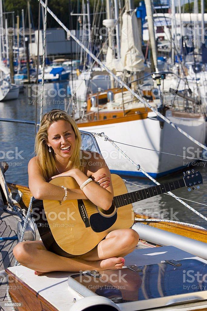 Морской музыка Стоковые фото Стоковая фотография