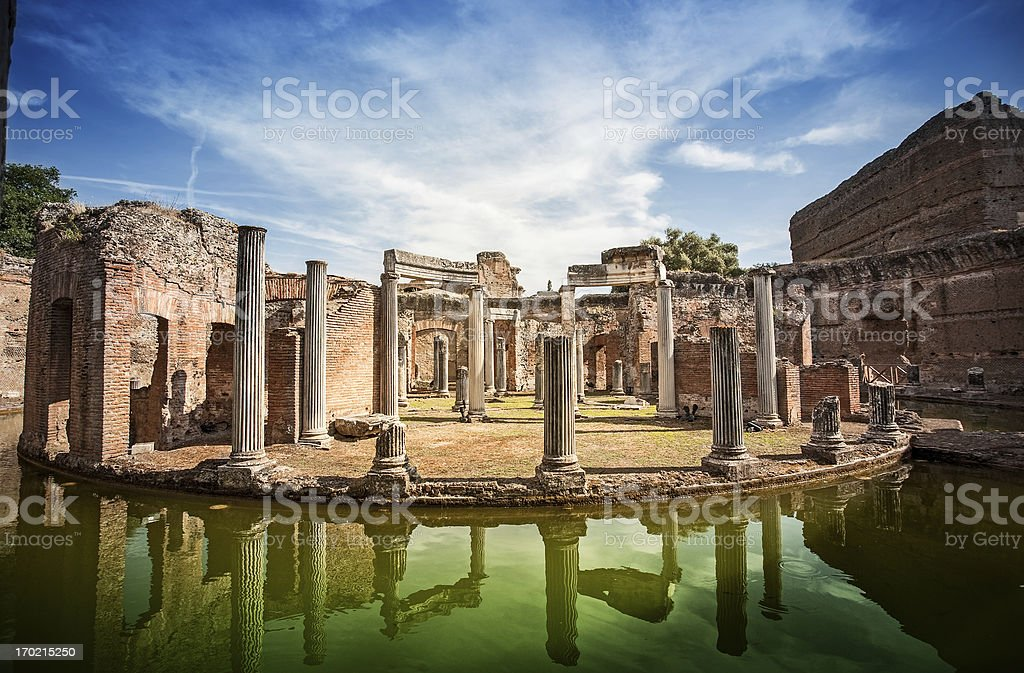 Maritime Theater at Hadrian's Villa stock photo