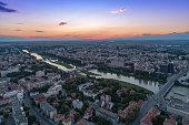 istock Maritsa river in Plovdiv, Bulgaria gorgeous aerial view 1045360472