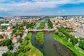 istock Maritsa river in Plovdiv, Bulgaria gorgeous aerial view - (Bulgarian: Река Марица, Пловдив, България) 1269313622