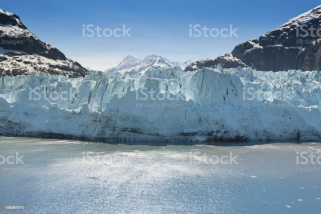 Marjorie Glacier, Alaska stock photo
