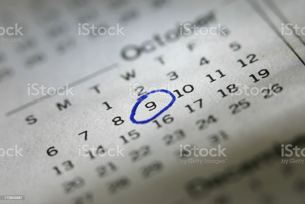 Mark it on your Calendar royalty-free stock photo