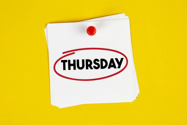 mark donnerstag im kalender - donnerstagnachmittag stock-fotos und bilder