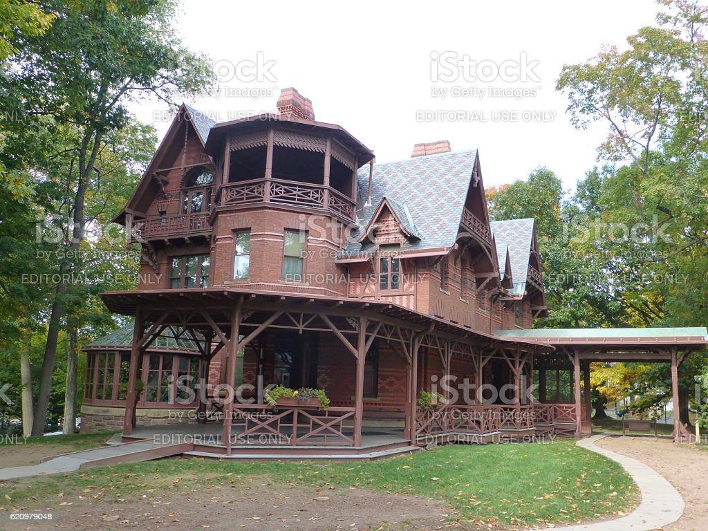 Mark Twain House, Hartford, Connecticut stock photo