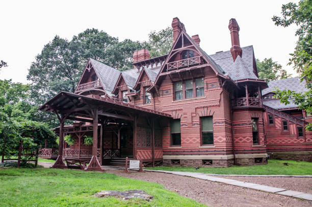 Mark Twain House in Hartford Sommertag – Foto