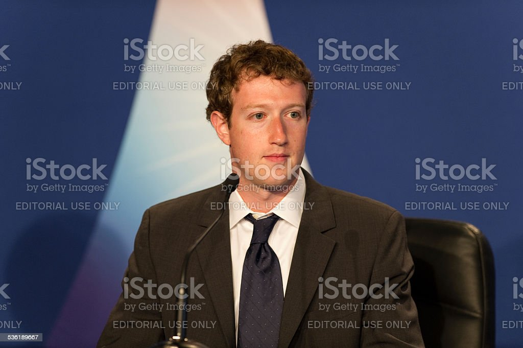 Mark Zuckerberg, ad esempio al G8 a Deauville, Francia foto stock royalty-free