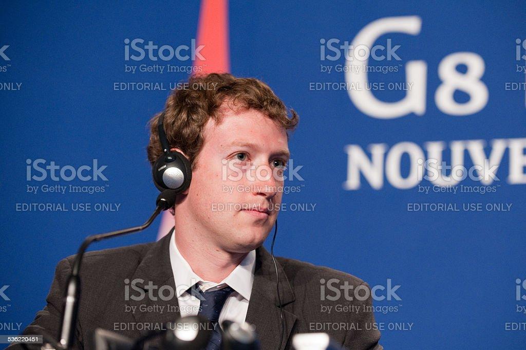 Mark Zuckerberg, ad esempio al G8 a Deauville, Francia - Foto stock royalty-free di 2015