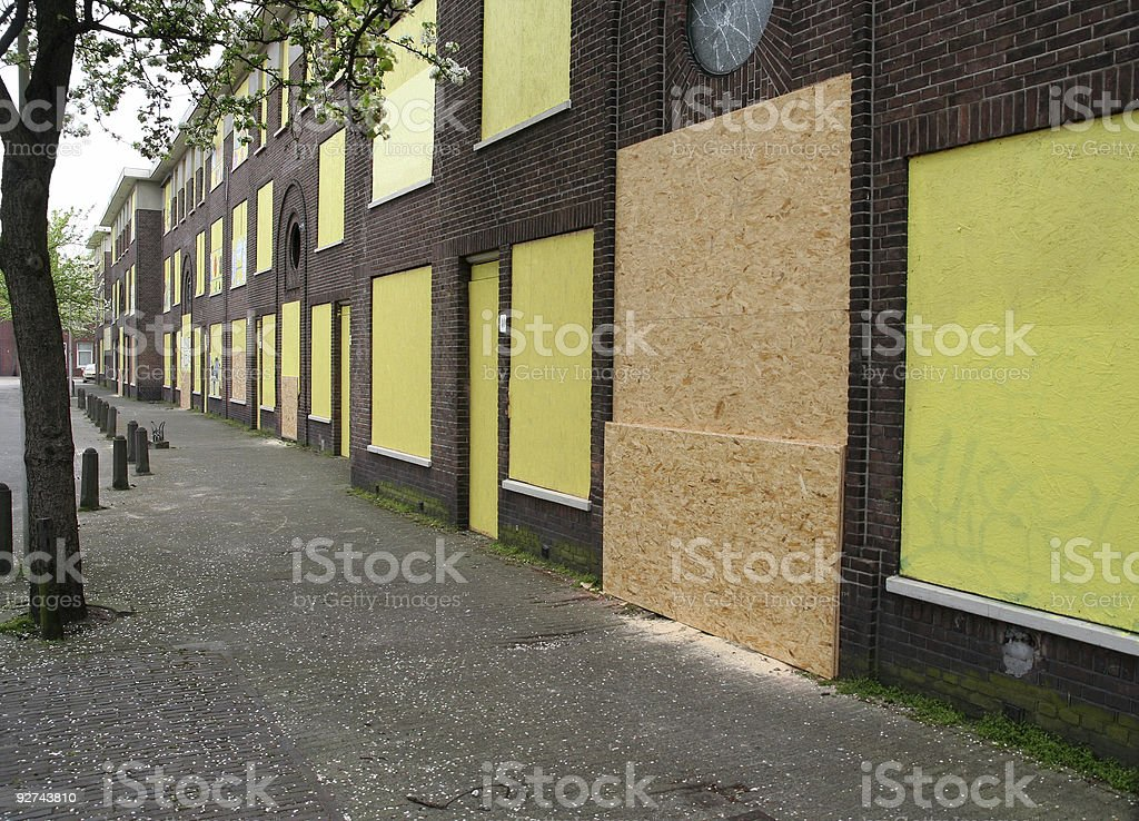 Marked for Demolition royalty-free stock photo