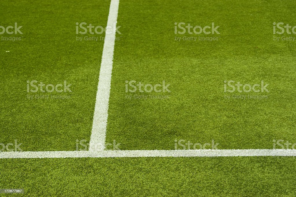 Marked sporting playing field royalty-free stock photo