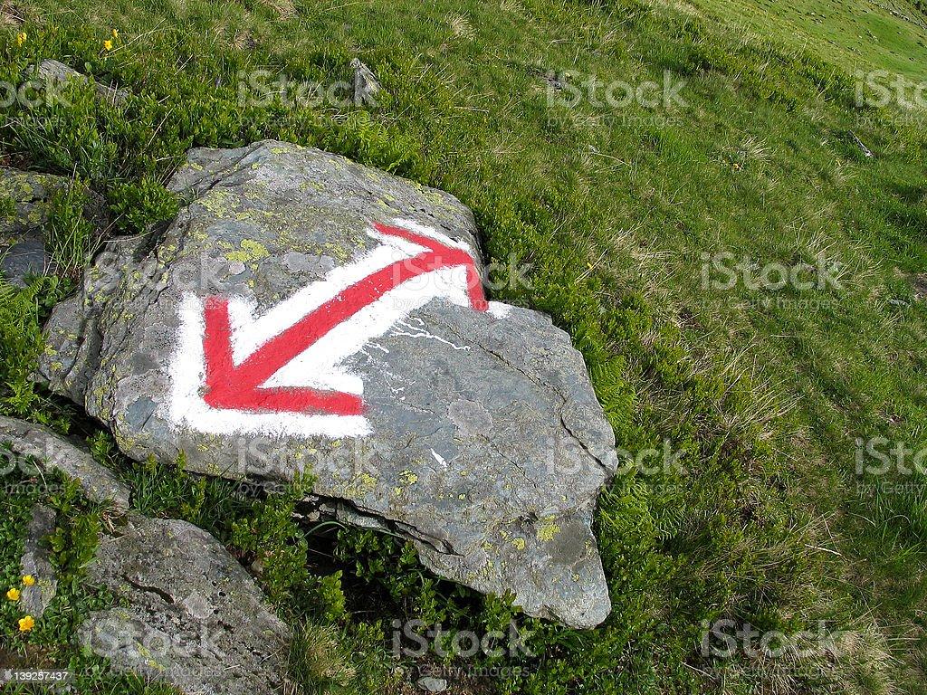 Marked stone royalty-free stock photo