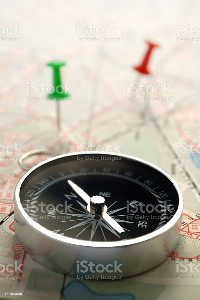 marked with the destination royalty-free stock photo