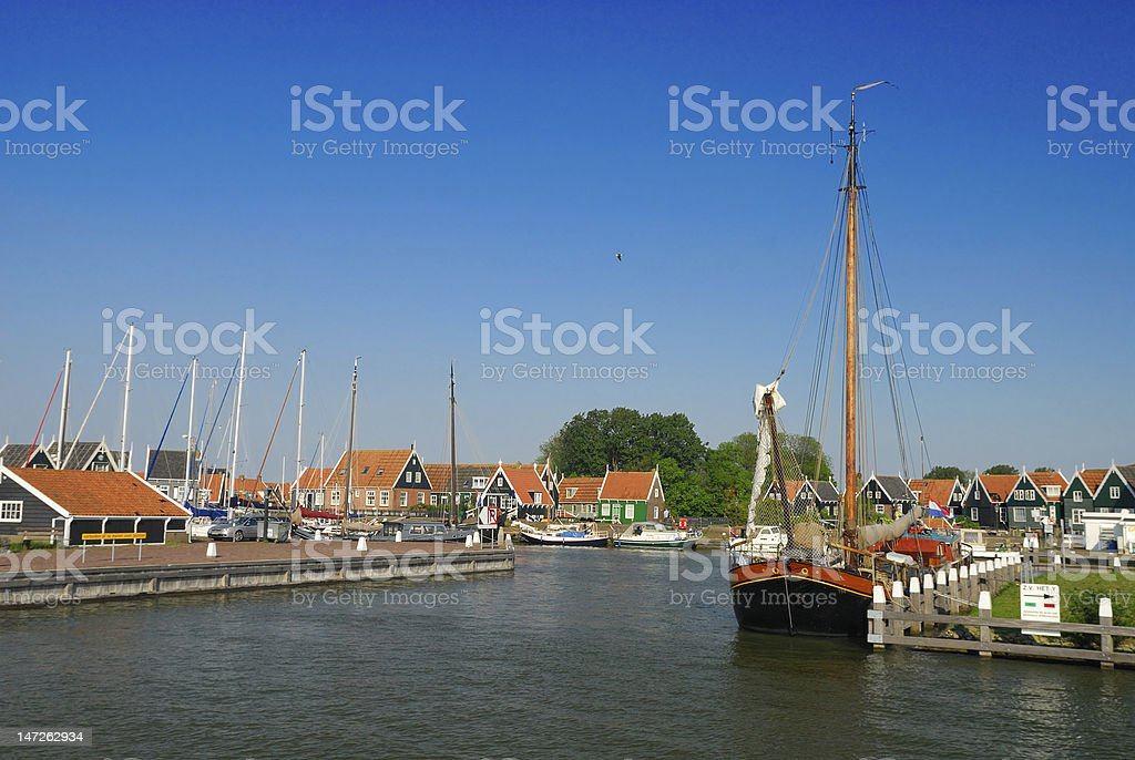 Marken, The Netherlands royalty-free stock photo